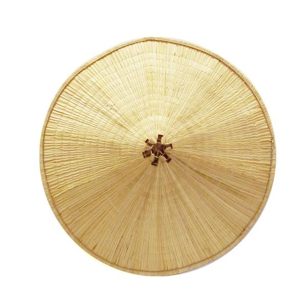 【スゲ笠】スゲ笠(座布団付) スゲと言う素材で作られた、スゲ笠です。ス... わら細工(飾り)